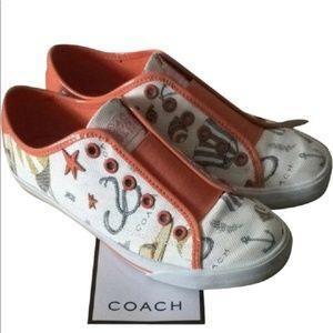 """COACH  """"beach print"""" shoes"""